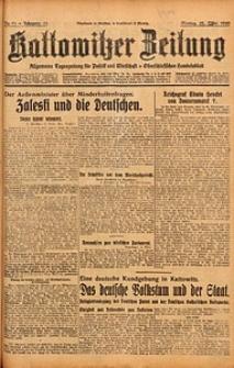 Kattowitzer Zeitung, 1929, Jg. 61, nr71