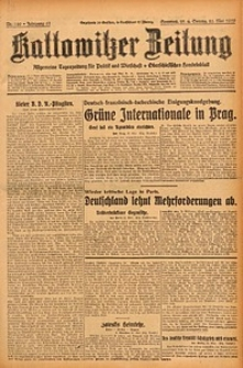 Kattowitzer Zeitung, 1929, Jg. 61, nr120
