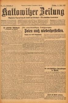 Kattowitzer Zeitung, 1929, Jg. 61, nr138