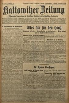 Kattowitzer Zeitung, 1929, Jg. 61, nr178