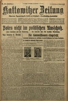 Kattowitzer Zeitung, 1929, Jg. 61, nr182