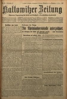Kattowitzer Zeitung, 1929, Jg. 61, nr201