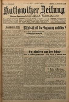Kattowitzer Zeitung, 1929, Jg. 61, nr215