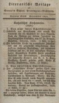 Literarische Beilage zu Streit's Schles. Provinzial-Blättern, 1830, 9. Stück