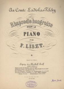 Rhapsodie hongroise pour le piano, II