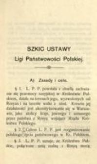 Szkic ustawy Ligi Państwowości Polskiej