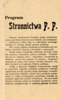 Program Stronnictwa P.P.