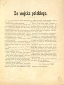 Do Wojska Polskiego Warszawa D 11 Listopada 1916 R Klub