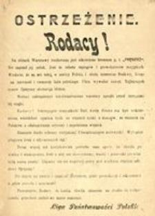 Ostrzeżenie. Liga Państwowości Polskiej