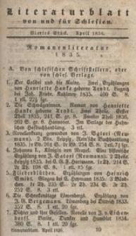 Literaturblatt von und für Schlesien, 1836, 4. Stück