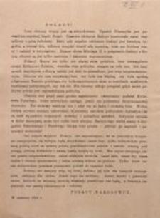 Polacy! Losy obecnej wojny są już zdecydowane. W czerwcu 1915 r.