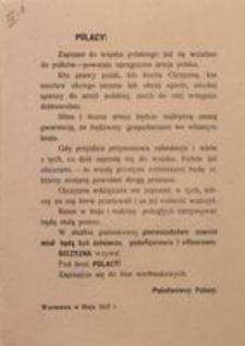 Polacy! Warszawa w Maju 1917 r. Państwowcy Polscy