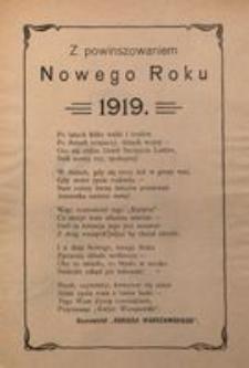 Z powinszowaniem Nowego Roku. 1919