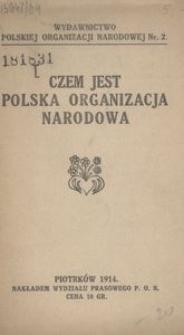 Czem jest Polska Organizacja Narodowa