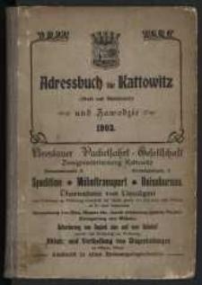 1903, Adress-Buch und Geschäfts=Handbuch der Stadt Kattowitz