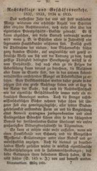 Literaturblatt von und für Schlesien, 1835, Rechtspflege und Geschäftsverkehr (3. Stück)