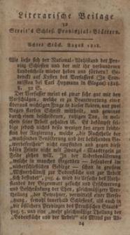 Literarische Beilage zu Streit's Schles. Provinzial-Blättern, 1828, 8. Stück