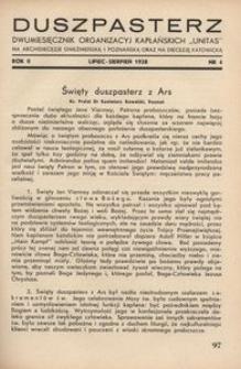 Duszpasterz, 1938, R. 2, nr 4