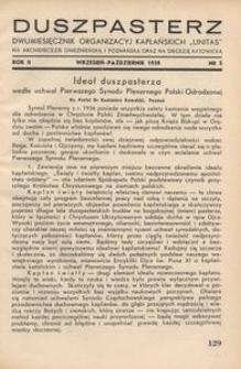 Duszpasterz, 1938, R. 2, nr 5