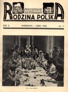 Rodzina Polska : miesięcznik ilustrowany, 1936, R.10, Nr 7 - lipiec
