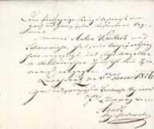 Korespondencja różnych osób z 5.01.1826 r.