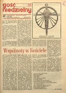 Gość Niedzielny, 1976, R. 53, nr47