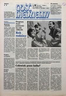 Gość Niedzielny, 1993, R. 66, nr48