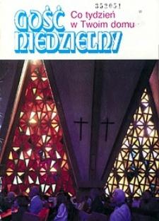 """Gość Niedzielny, 1994, R. 71, dodatek: """"Gość Niedzielny. Co tydzień w Twoim domu"""""""