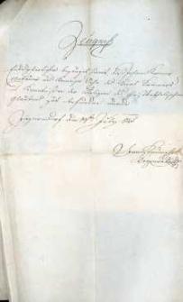 Korespondencja różnych osób z 14.07.1825 r.