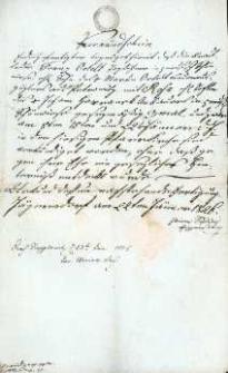 Korespondencja różnych osób z 23.01.1826 r.