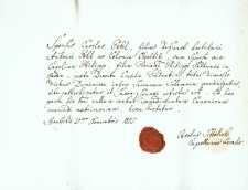 Korespondencja różnych osób z 21.11.1825 r.