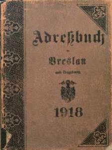 Adreßbuch für Breslau und Umgebung, 1918