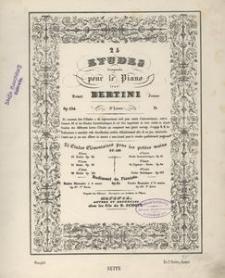 25 Etudes composées pour le Piano. 3e Livre. Op. 134