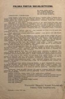 Towarzysze i Towarzyszki! Warszawa, w marcu 1917 roku. Warszawski Okręgowy Komitet Robotniczy Polskiej Partji Socjalistycznej