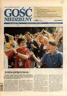 Gość Niedzielny, 1999, R. 72, nr34