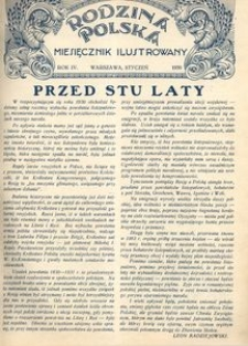 Rodzina Polska : miesięcznik ilustrowany, 1930, R.4, Nr 1 - styczeń