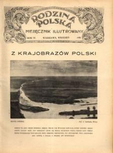 Rodzina Polska : miesięcznik ilustrowany, 1930, R.4, Nr 9 - wrzesień