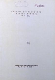 Rocznik Statystyczny Miasta Bytomia. 1954