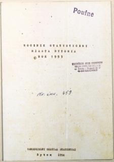 Rocznik Statystyczny Miasta Bytomia. Rok 1953