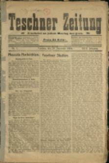 Teschner Zeitung, 1919, Nry 1-8, 10-13, 15-21, 26-27, 36-39, 43-61, 63-146, 148-191