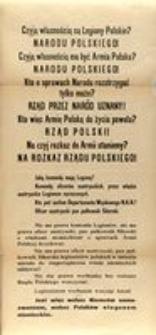 Czyją własnością są Legiony Polskie?