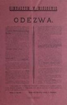 Odezwa. Miechów, d. 1 lipca 1916 r.