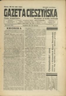 Gazeta Cieszyńska, 1933, Nry 5-8, 10-18, 20-24, 26-31, 33-40, 42, 45, 47-48, 51