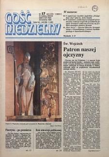 Gość Niedzielny, 1995, R. 68, nr17