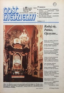 Gość Niedzielny, 1995, R. 72, nr19