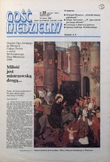 Gość Niedzielny, 1996, R. 69, nr13