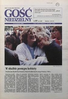 Gość Niedzielny, 1996, R. 69, nr37