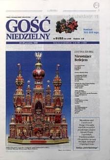 Gość Niedzielny, 1996, R. 69, nr51/52