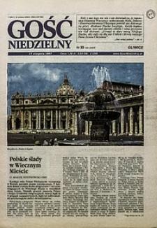 Gość Niedzielny, 1997, R. 74, nr33