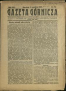 Gazeta Górnicza, 1927, Nr 13
